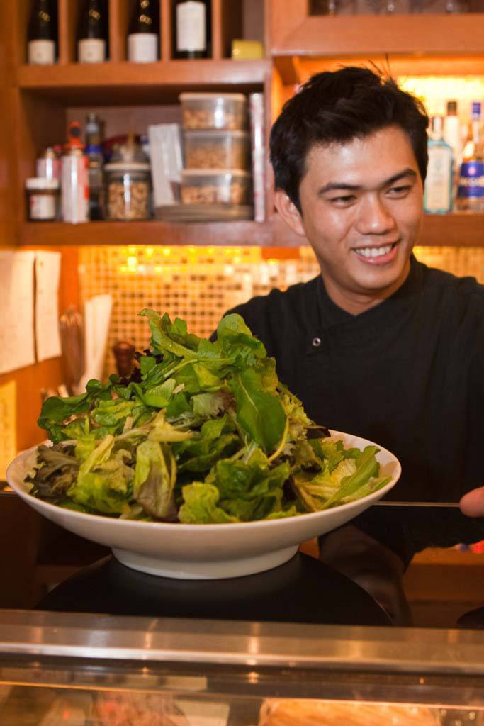 Momo Chef Kalel Chan greens up a salad