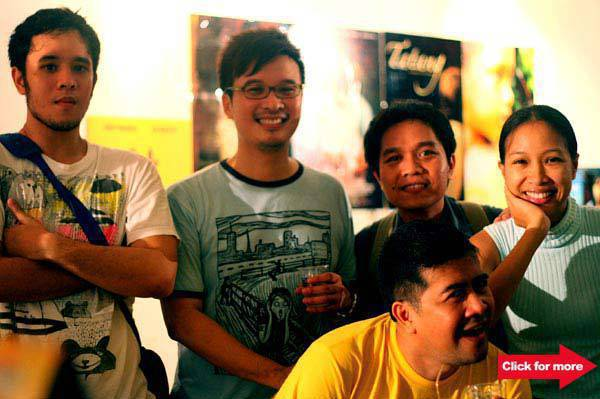 Cinemalaya Cinco filmmakers Pepe Diokno, GB Sampedro, Alvin Yapan and Ana Agabin.