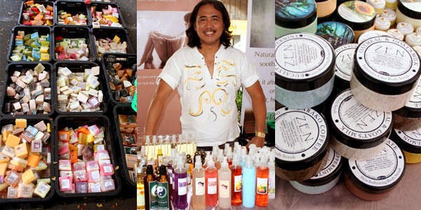 Gerry Villena and his organic lotions and potions