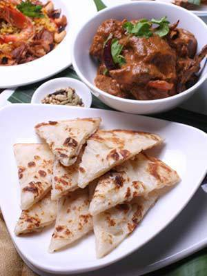 Roti Chanai and Lamb Rogan Josh