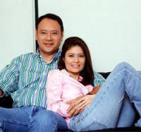 Presidential candidate Gilberto Teodoro with wife, Rep. Nikki Teodoro