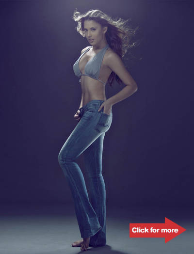 Priscilla Meirelles in a pair of 7 For All Mankind Jeans. Click for more photos by Xander Angeles.