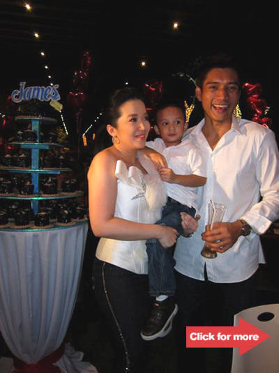 Kris Aquino, Baby James and James Yap. Photos by Girlie Rodis.