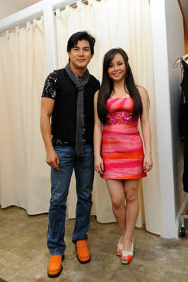 Oliver with actress Anna Maria Perez de Tagle (