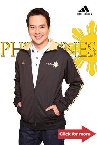 John Lloyd Cruz in the Adidas Philippine Range jacket, P3,295.
