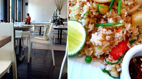 A vegetarian pick at People's Palace: Pineapple Fried rice (right).