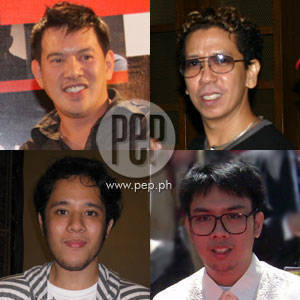 (From upper left, clockwise) Brillante Mendoza, Auraeus Solito, Raya Martin, and Pepe Diokno