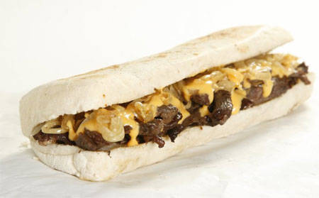Pat & Geno's Sandwich (Famous Angus Philadelphia Cheese Steak Sandwich), P220.