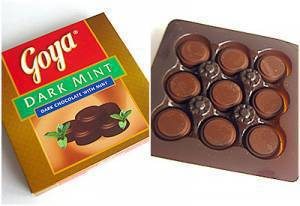 Goya Dark Mint Chocolates