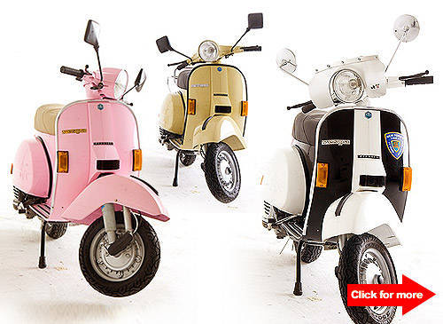 Win Limited Edition Vintage Vespas from Yellow Cab