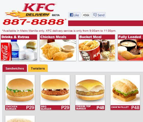 Menu Kfc Chicken Bucket Price Philippines