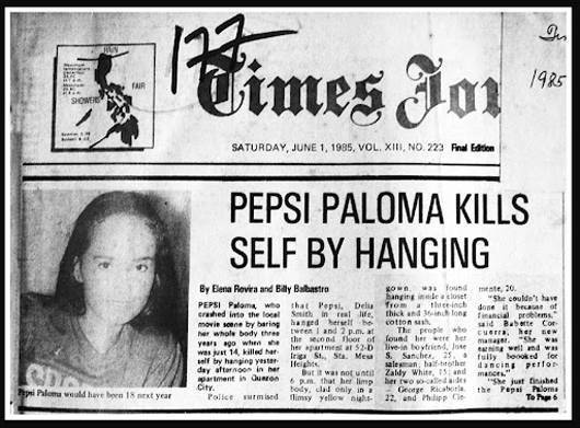 Pepsi Paloma News Clipping