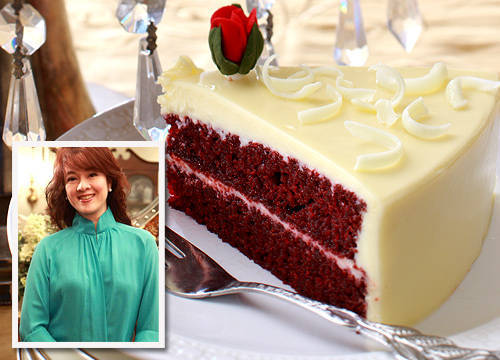 Red Velvet cake from Karen's Kitchen