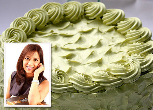 Green Tea Belgian White Chocolate from Homemade by Roshan