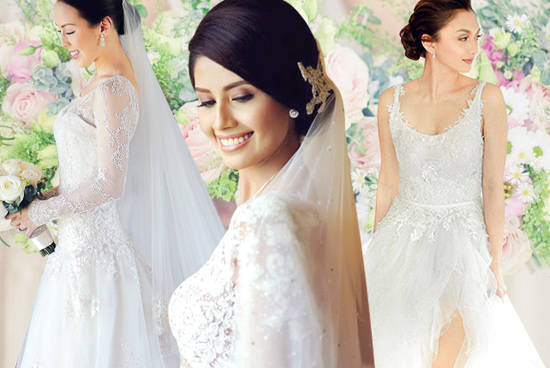 Top 10 prettiest celebrity wedding gowns spot share junglespirit Gallery