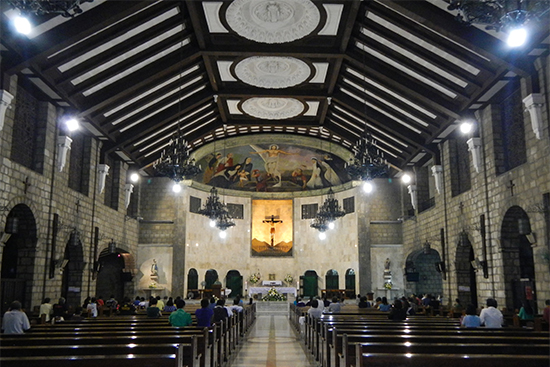 Interior of Santuario Del Sto Cristo Church