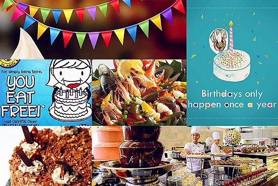 Free Birthday Restaurants ~ Restaurants where you can get birthday freebies spot ph