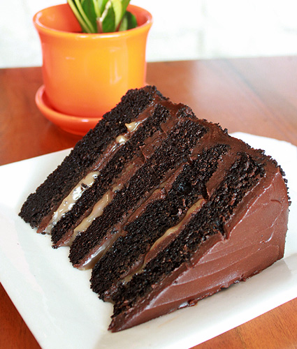 Lucca's 5-Layer Chocolate Cake