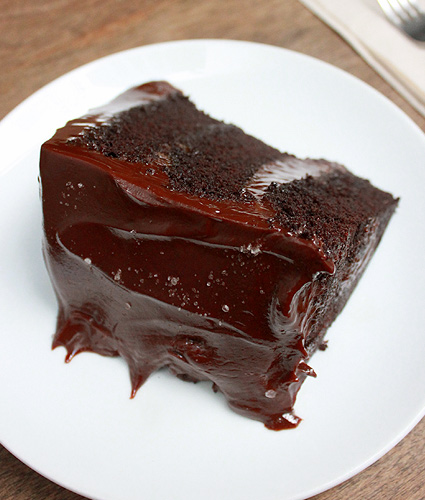 Wildflour's Salted Chocolate Cake