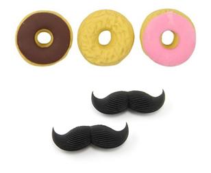Donut/Mustache Erasers