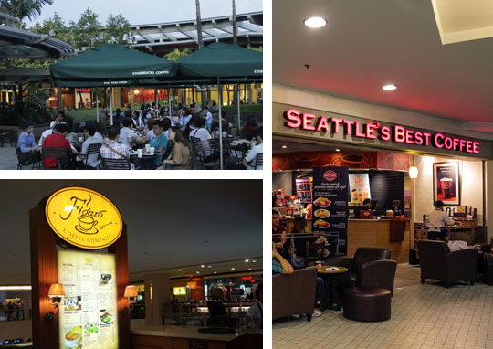 Coffee Outlets Under Trinoma