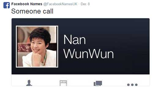 1418364762 facebook names nine one one 10 funniest made up names from facebook spot ph,Name Memes