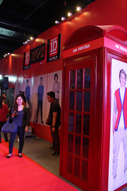 The famous phone booth from the Take Me Home album cover