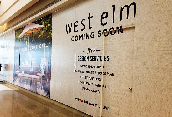 West Elm Soon to Open at Estancia Mall