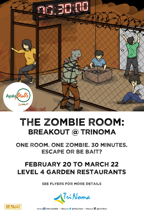 Check out the zombie room breakout trinoma until march 22 spot check out the zombie room breakout trinoma until march 22 stopboris Gallery