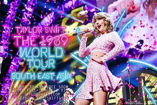 Taylor Swift The 1989 World Tour, South East Asia