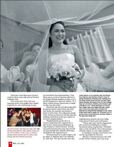 Judy Ann Kept Everything At A Minimum Stud Earrings And Fresh Pink Hued Makeup Allowed Her Bridal Glow To Shine