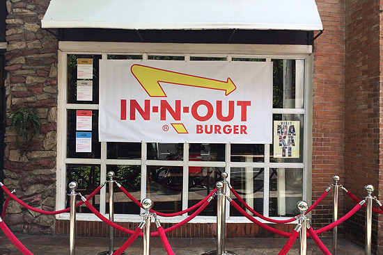 In-N-Out is in Greenbelt today