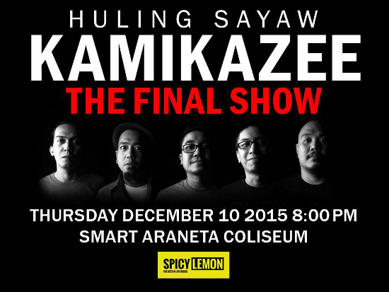 Kamikazee The Final Show Poster