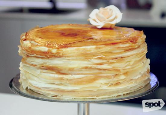 Paper Moon Crepe Cake