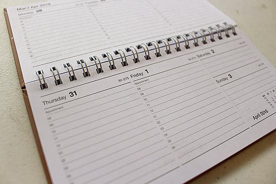 365 Days Twelve Months Weekly 2016 Diary Design