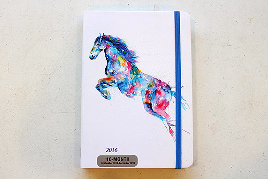Peter Pauper Press Watercolor Horse 2016