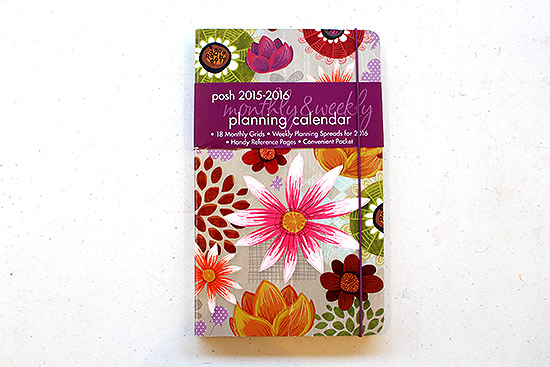 POsh 2015-2016 Monthly and Weekly Planning Calendar Cover