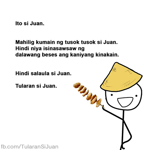 Juan sure has street food manners