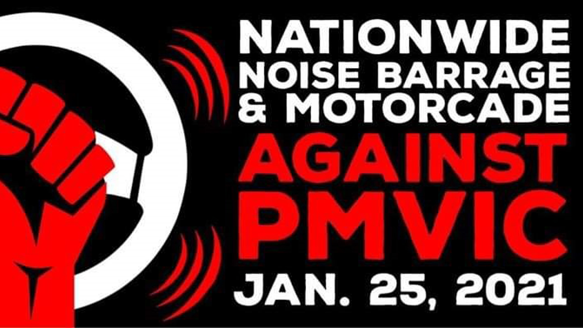 Nationwide Noise Barrage and Motorcade Against PMVIC