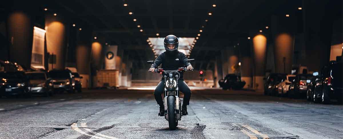 Man riding the Sondors Metacycle