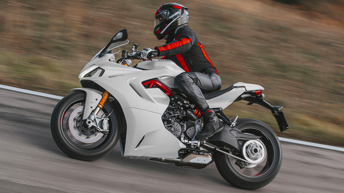 White Ducati SuperSport 950