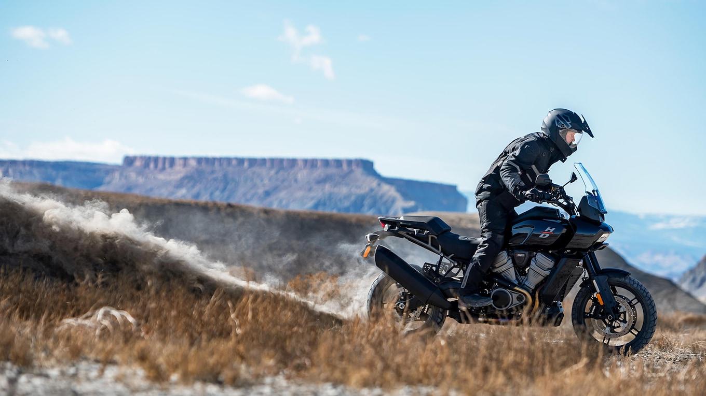 Man Riding the Harley-Davidson Pan America 1250