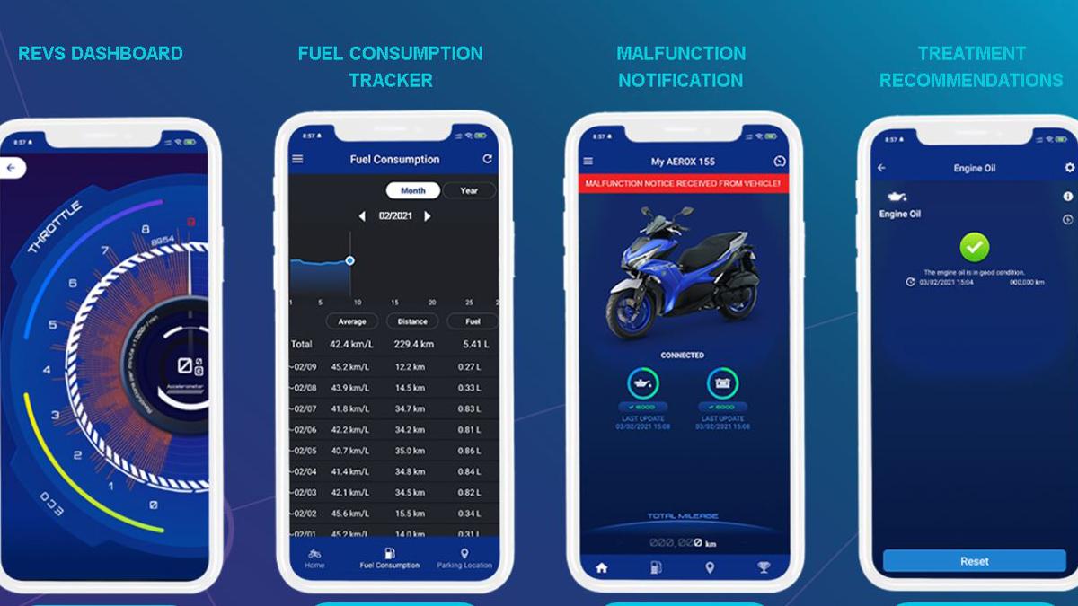 2021 Yamaha Mio Aerox Phone Connectivity