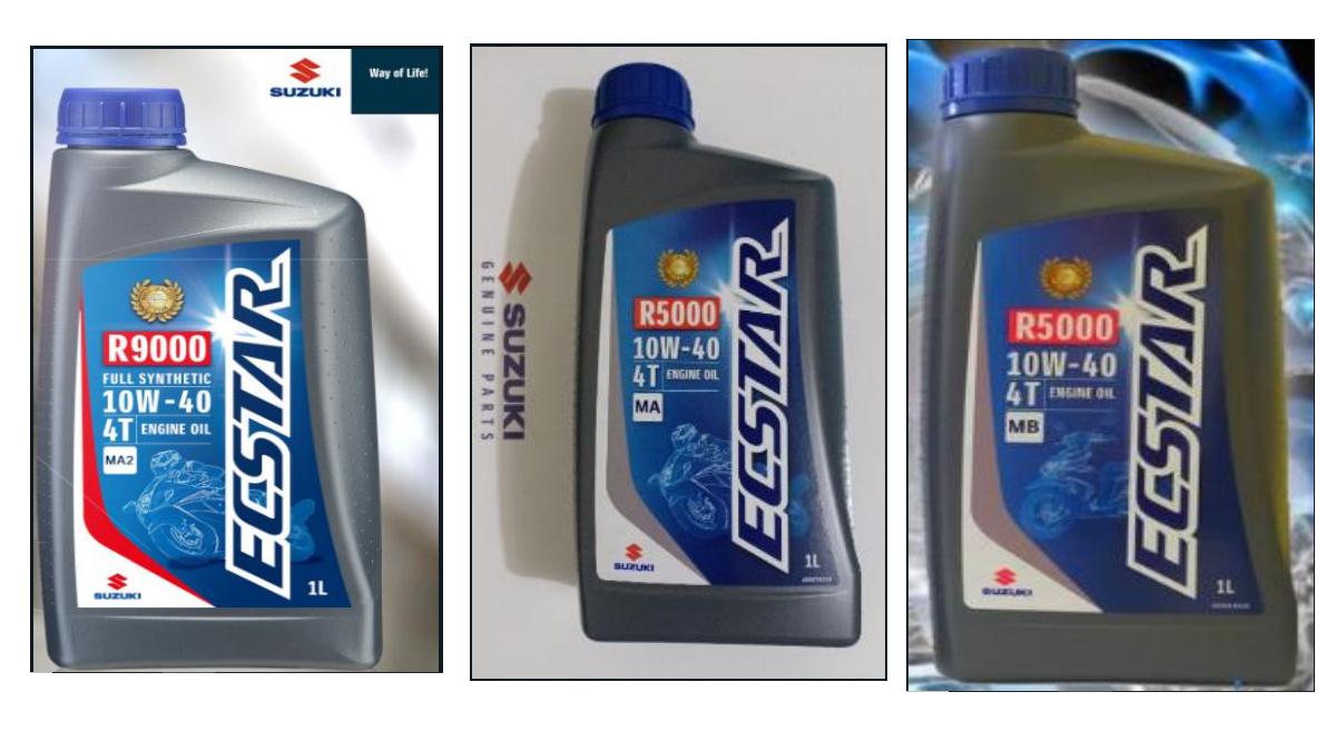 Suzuki ECSTAR motorcycle oil