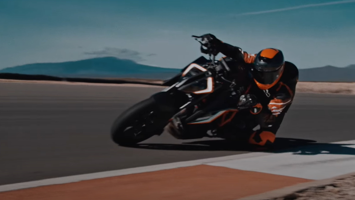 Man Riding the KTM 1290 Super Duke RR