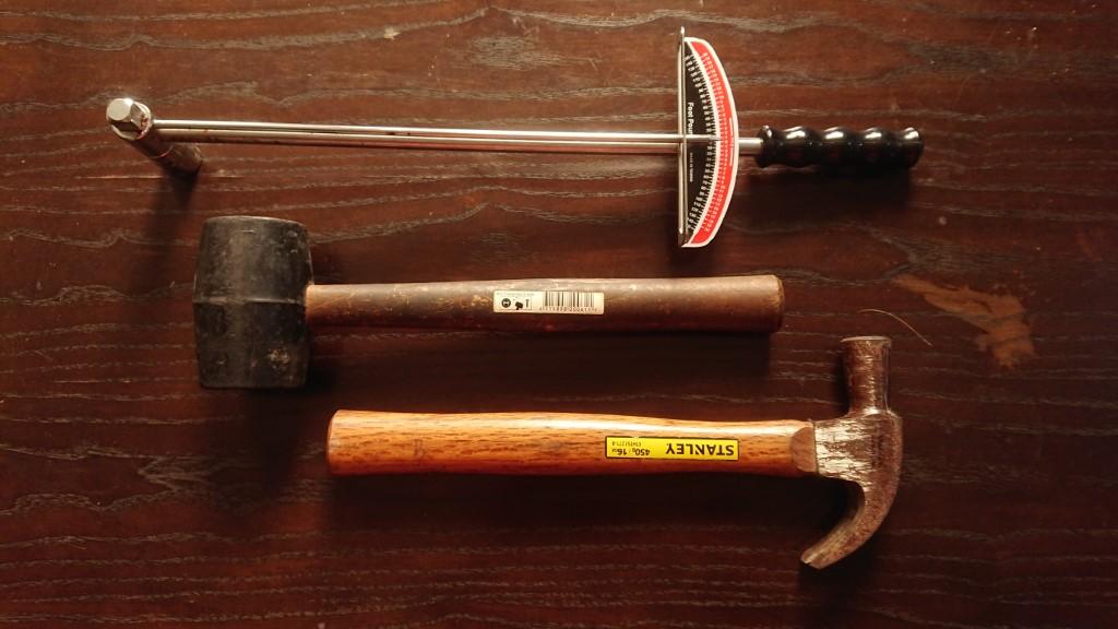 motorcycle repair tools, hammer