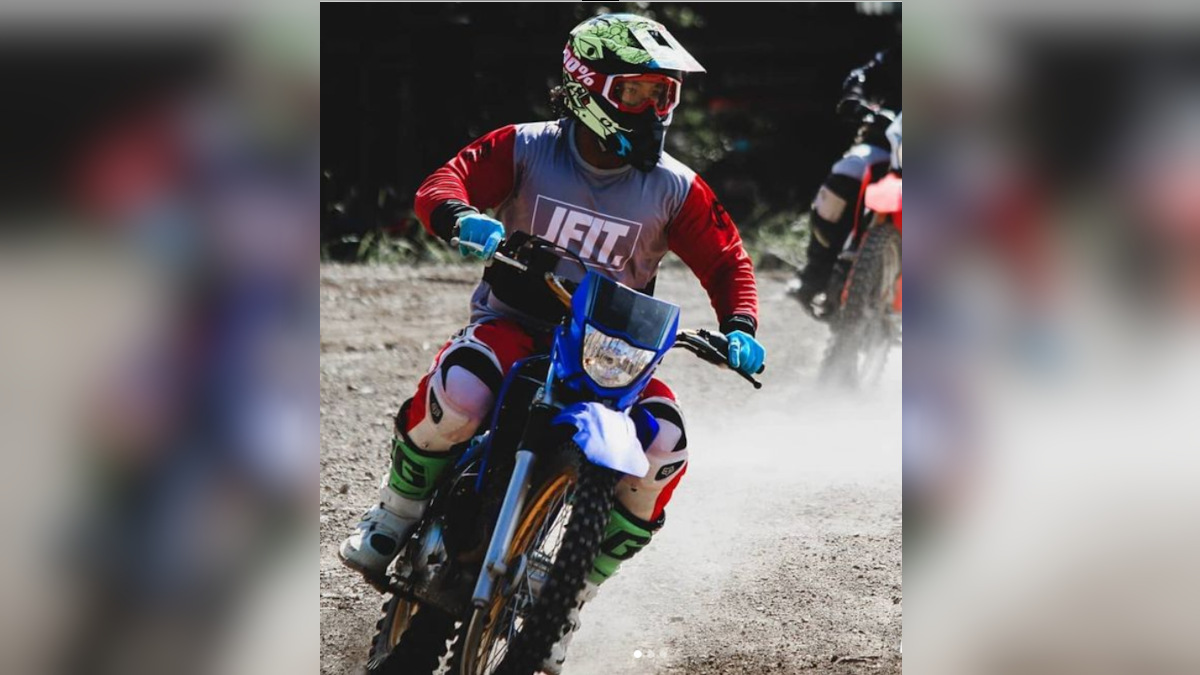 Man wearing the JFIT motocross jersey