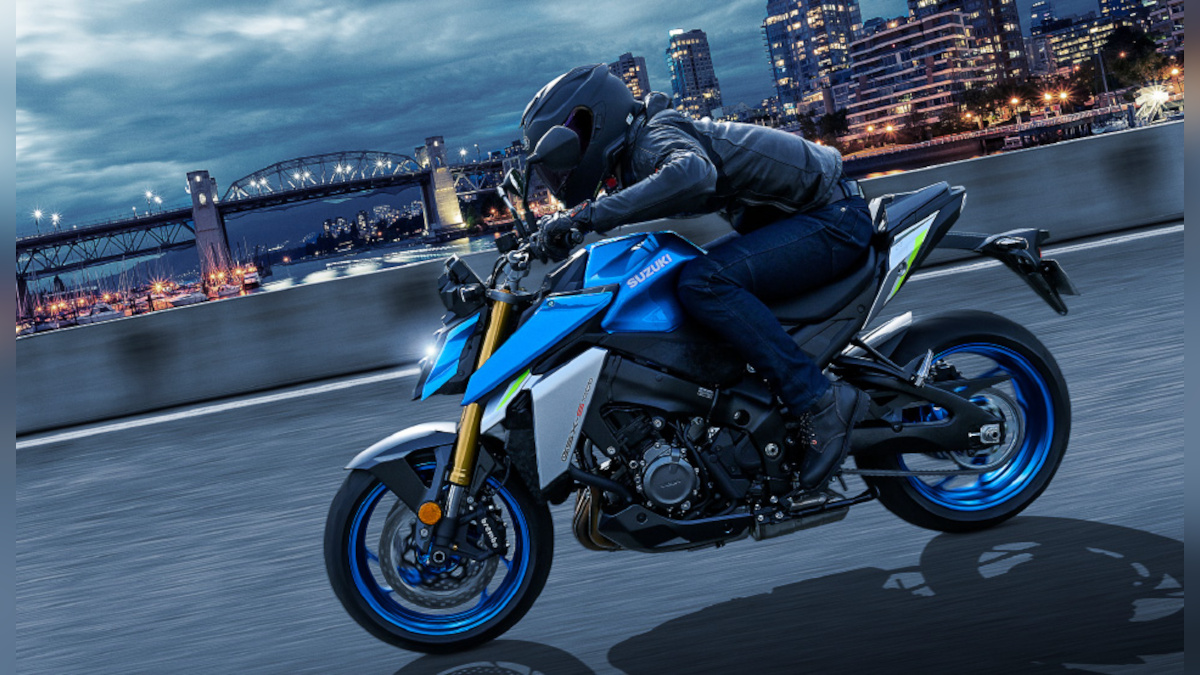 Man riding the Suzuki GSX-S1000