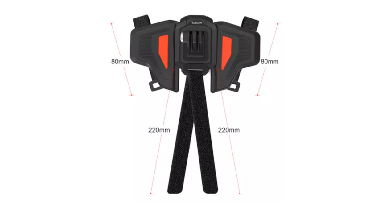 Telesin helmet chin bar mount