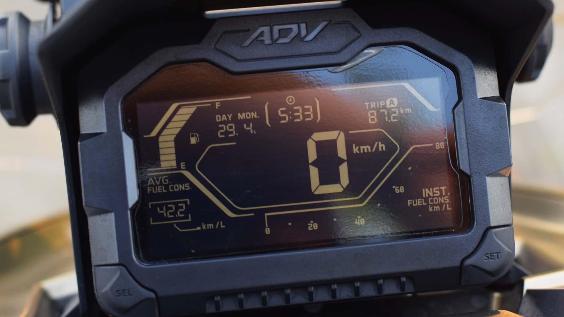 Honda ADV 150 Dashboard